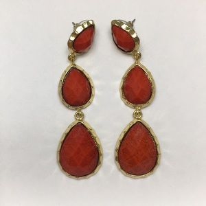 Amrita Singh Red & Gold Statement Earrings
